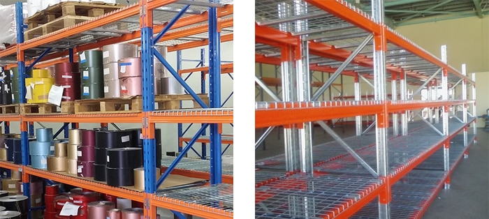mesh deck pallet racking