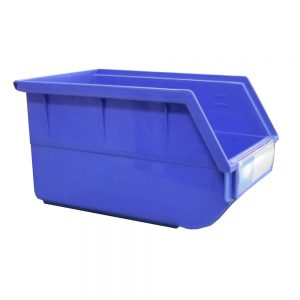 blue parts bin