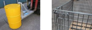 drum lifter pallet cage